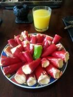 29 rote und 1 frecher grüner Peperoni