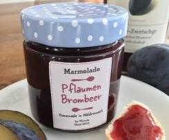 Pflaumen-Brombeer Marmelade