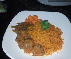 Afrikanischer Reisfleisch