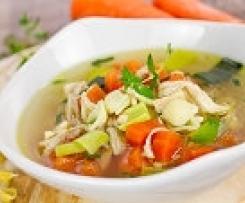 Gerrys einfache und gesunde Gemüse- Hühnersuppe