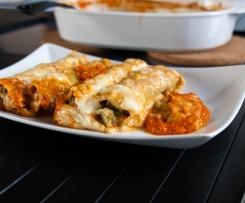 Überbackene Cannelloni mit Brokkolifüllung