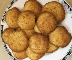 Butter-Knusper-Cookies mit weißer Schokolad