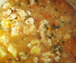 Hühnchen Ingwer Quinoa Eintopf