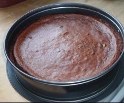 Schoko-Pflaumen-Kuchen low carb
