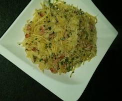Sauerkraut - Spaghetti mit Kassler