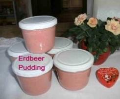 Erdbeer-Pudding auf Vorrat