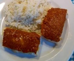 Tikka Lachs mit Cumin-Reis