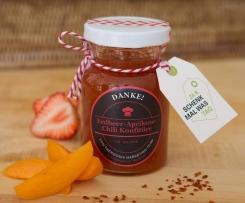 Erdbeer-Aprikose-Chili-Konfitüre