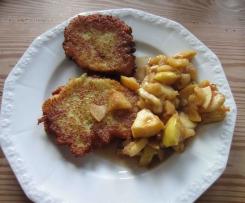 vegane Kartoffelpuffer mit selbstgemachten Apfelmus