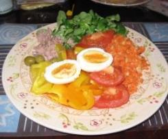 Diätrezept: Nizza-Salat / Paprika-Salat mit Ei