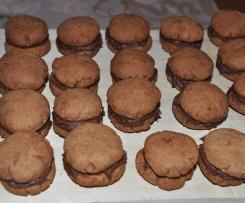 Gefüllte Schokoladenplätzchen