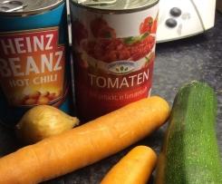 Tomateneintopf mit Bohnen