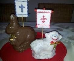 """Osterlamm und """"Hase à la Pippi"""" (Eierlikörkuchen)"""