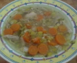 Schnelle Hühnersuppe   all in one
