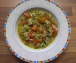 Vegan/ Lauchcurry mit Pilzen