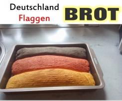 Deutschland Flaggen Brot